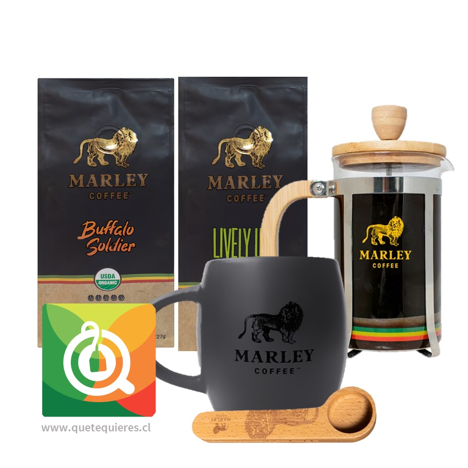 Pack Marley Coffee Tazón + Prensa + Cuchara + Cafés