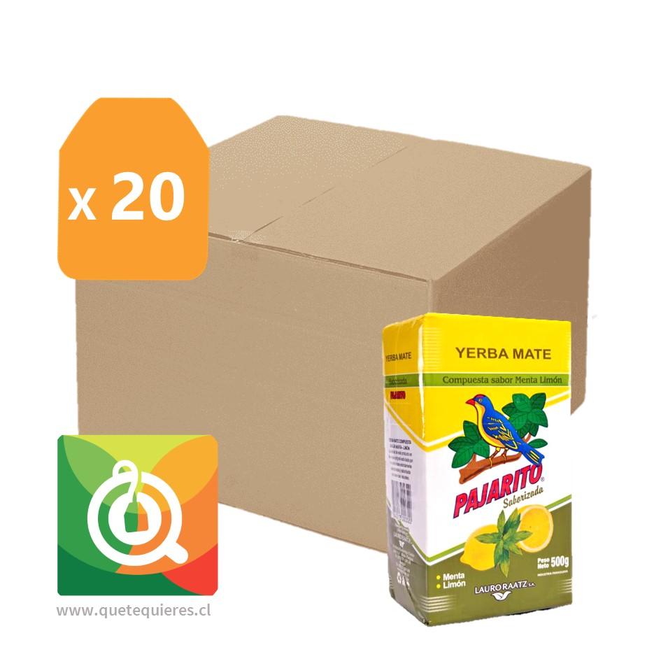 Pack Pajarito 20 Yerba Mate Menta Limón