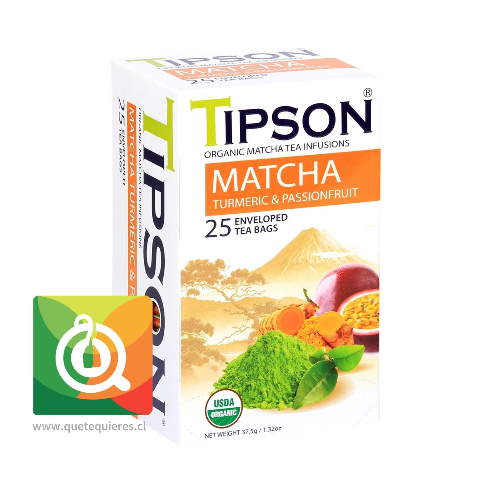 Tipson Matcha Cúrcuma y Maracuyá - Image 1