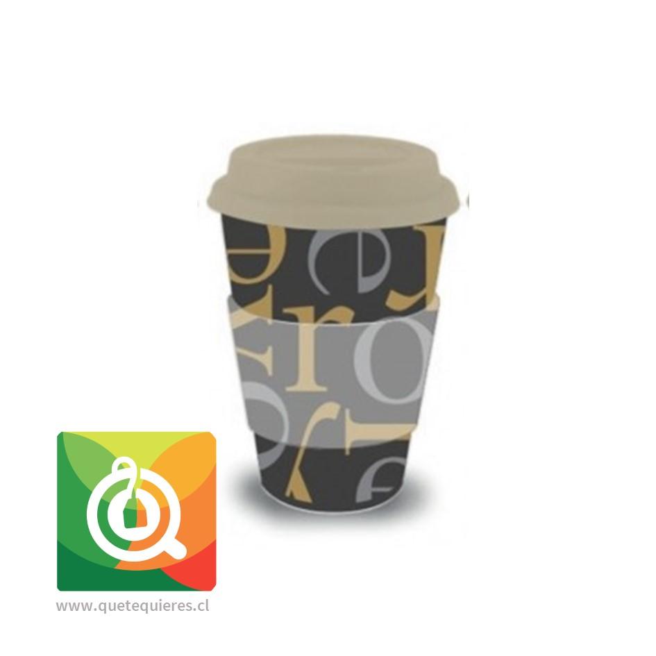 Oroley Mug Bambú Diseño Letras