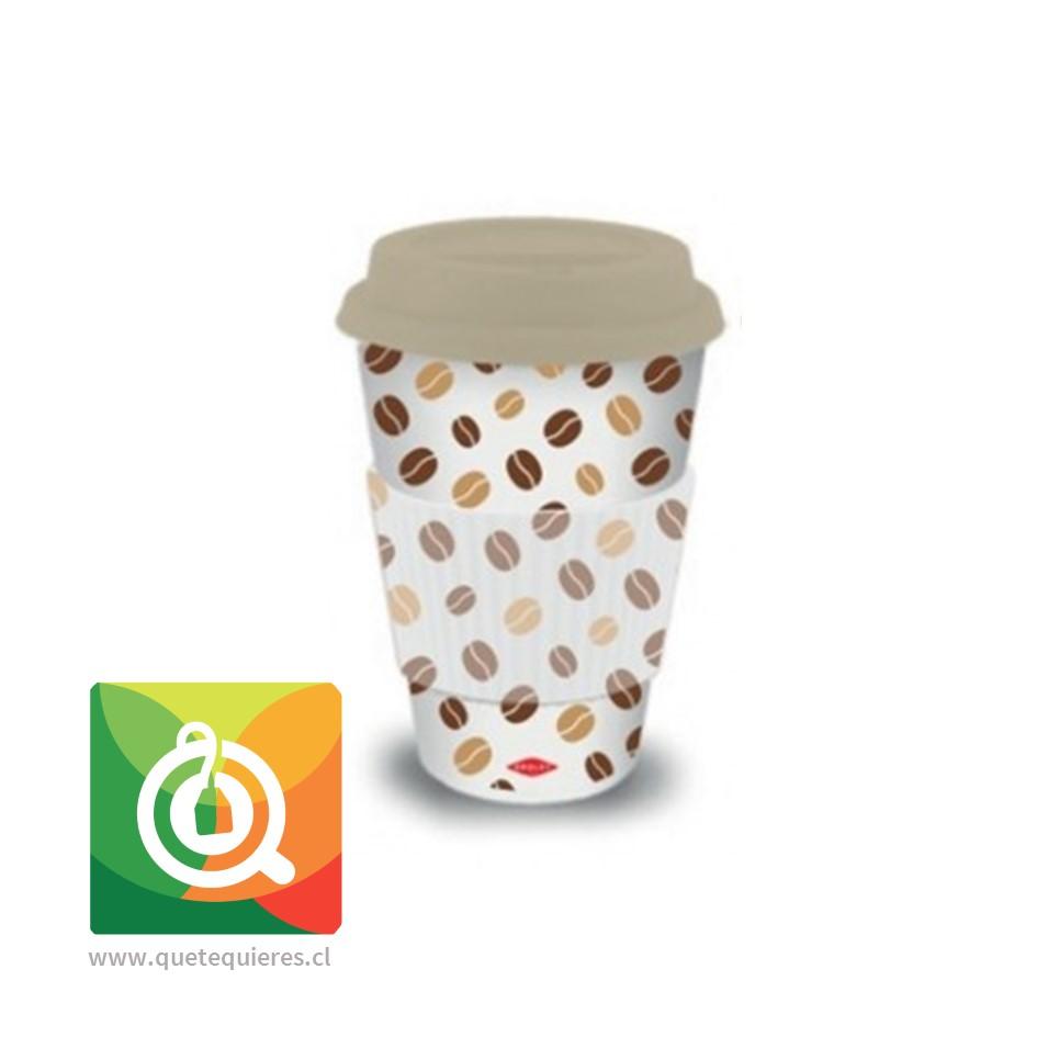 Oroley Mug Bambú Diseño Café en Grano