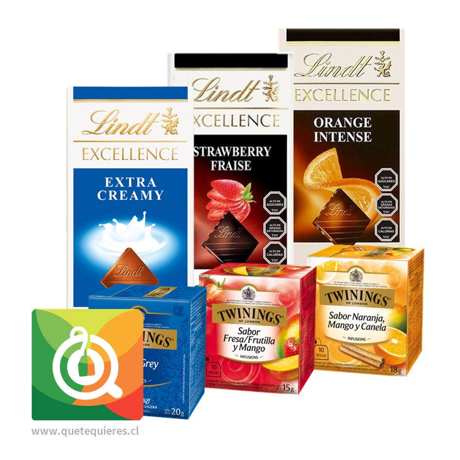 Pack Lindt Chocolates Barra + Twinings Surtidos