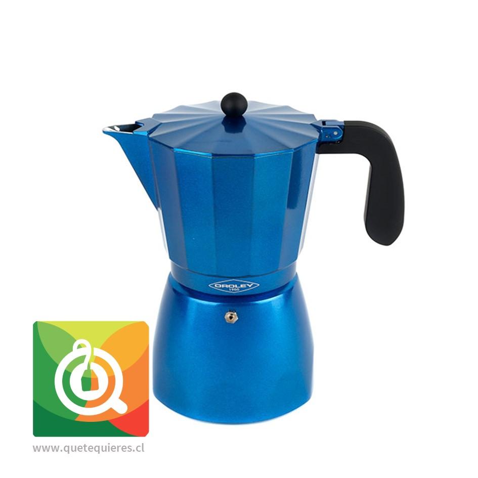 Oroley Cafetera Italiana Induccion Blue para 6 y 3 Tazas - Image 1
