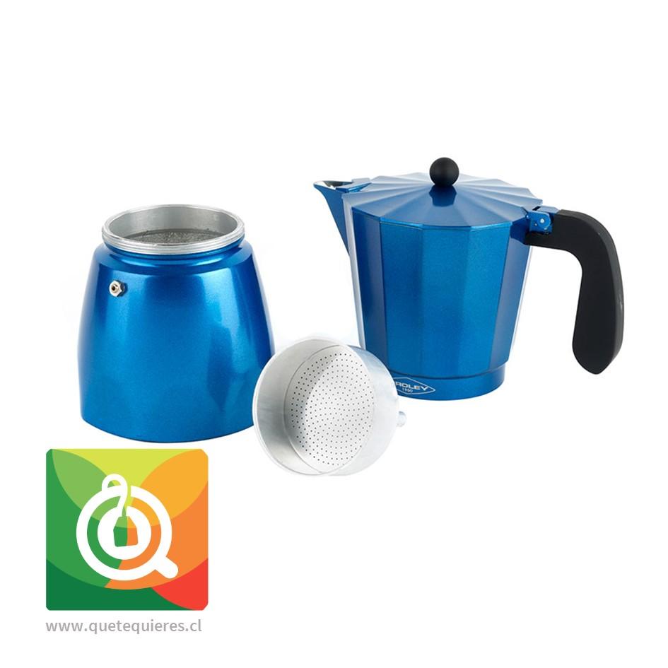 Oroley Cafetera Italiana Induccion Blue para 6 y 3 Tazas - Image 2