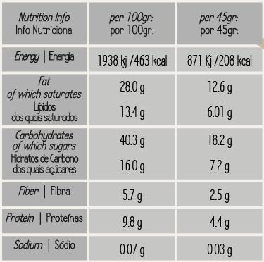 Granola de Cacau e Framboesa Biológico 425gr