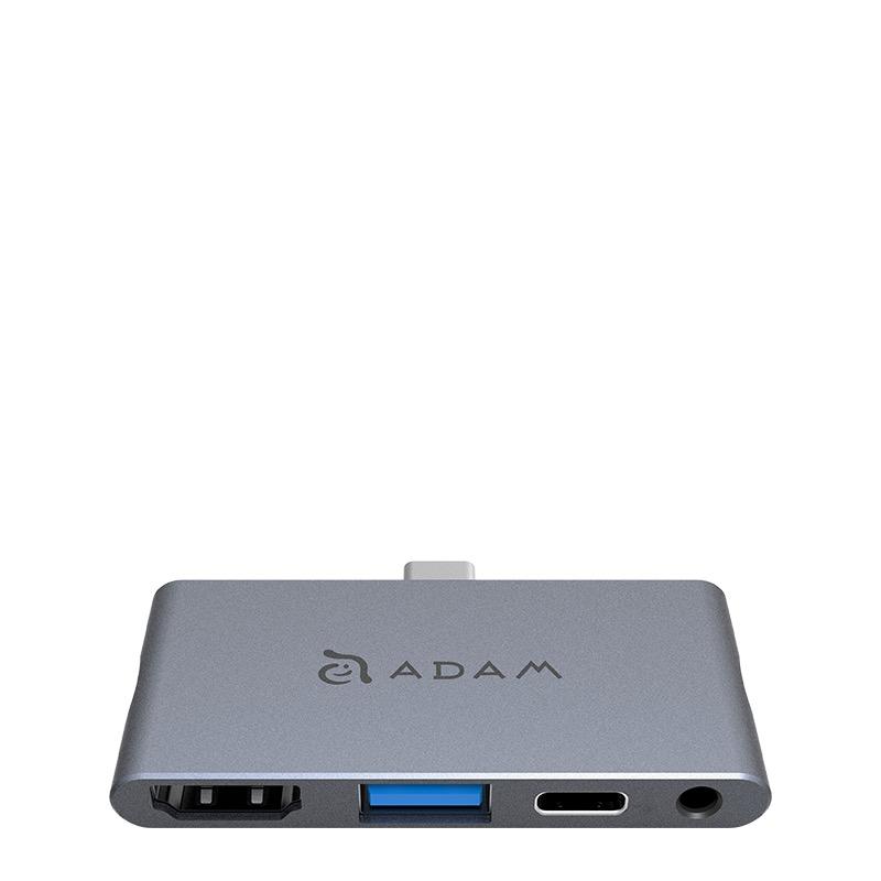 Hub USB-C Adam Elements CASA I4 para iPad Pro de 3ª generación / Gris