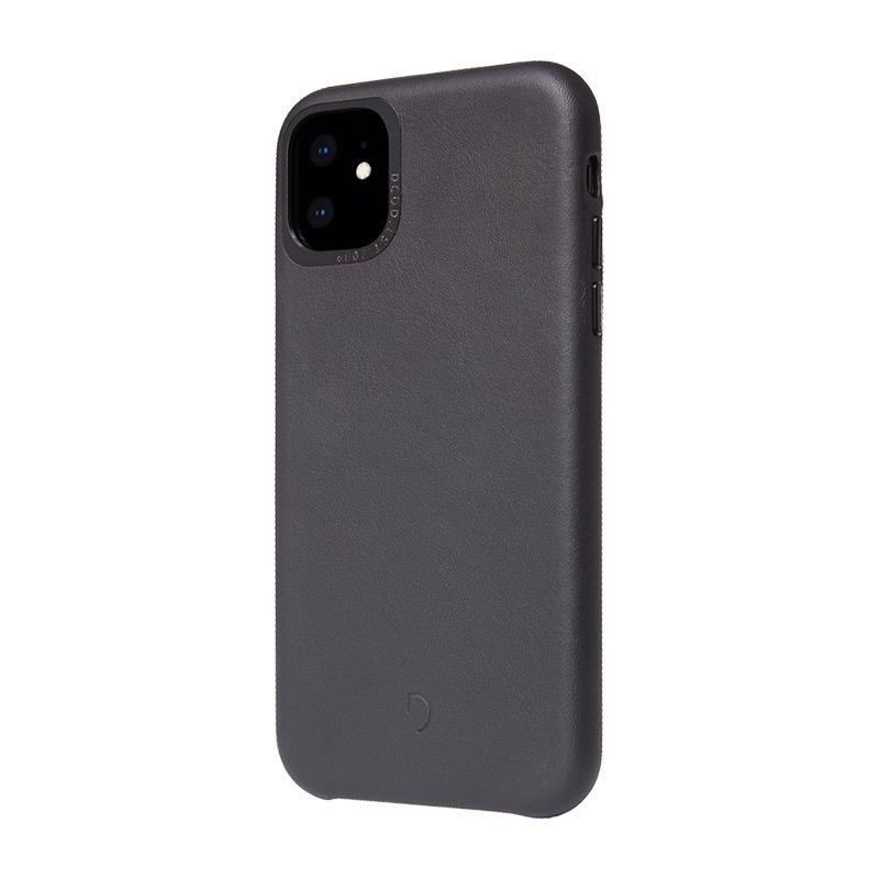 Funda de cuero Decoded Back Cover para iPhone 11 / Negro