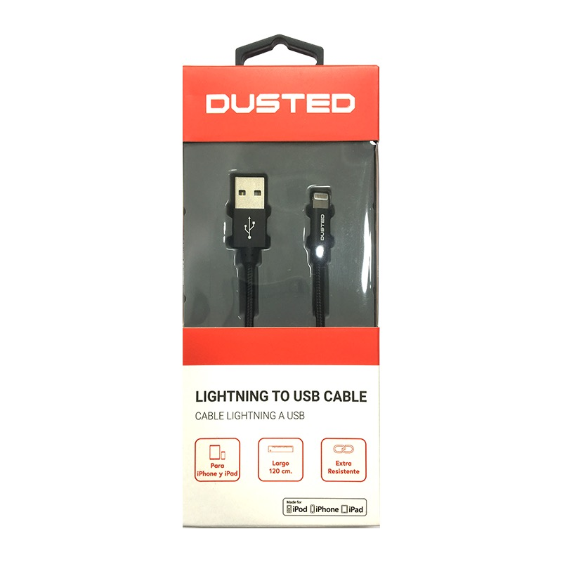 Cable Lightning a USB-A Dusted de 1,2 m  **ULTIMAS UNIDADES**