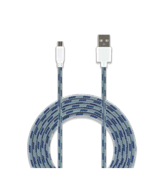 Cable micro USB 3.0 Ft. Bits light grey
