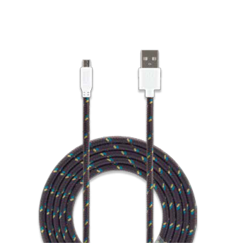 Cable micro USB 3.0 Ft. Bits charcoal