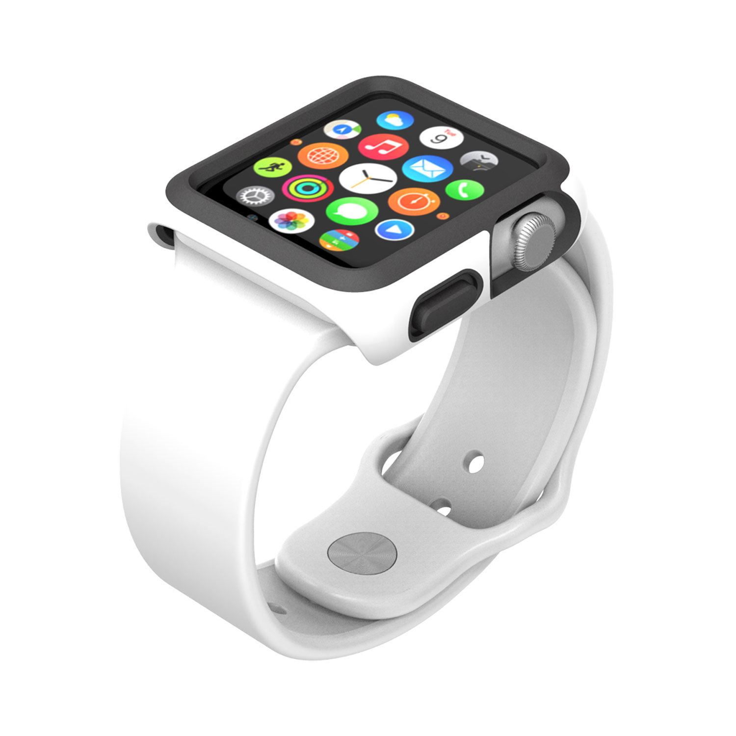 - Protector para Apple Watch 38mm CandyShell Speck white/black 2