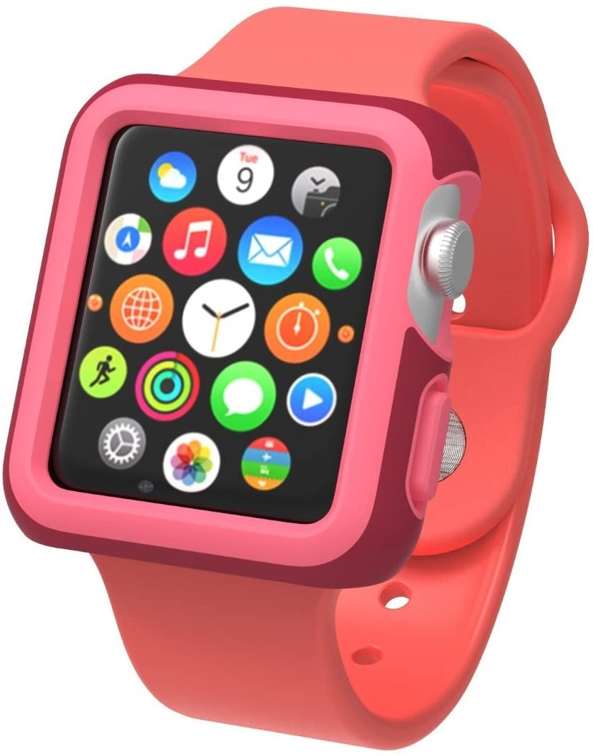 - Protector para Apple Watch 38mm CandyShell Speck red/splash pink 1
