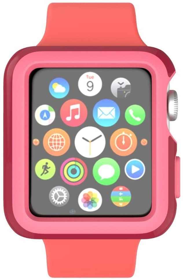 - Protector para Apple Watch 38mm CandyShell Speck red/splash pink 2