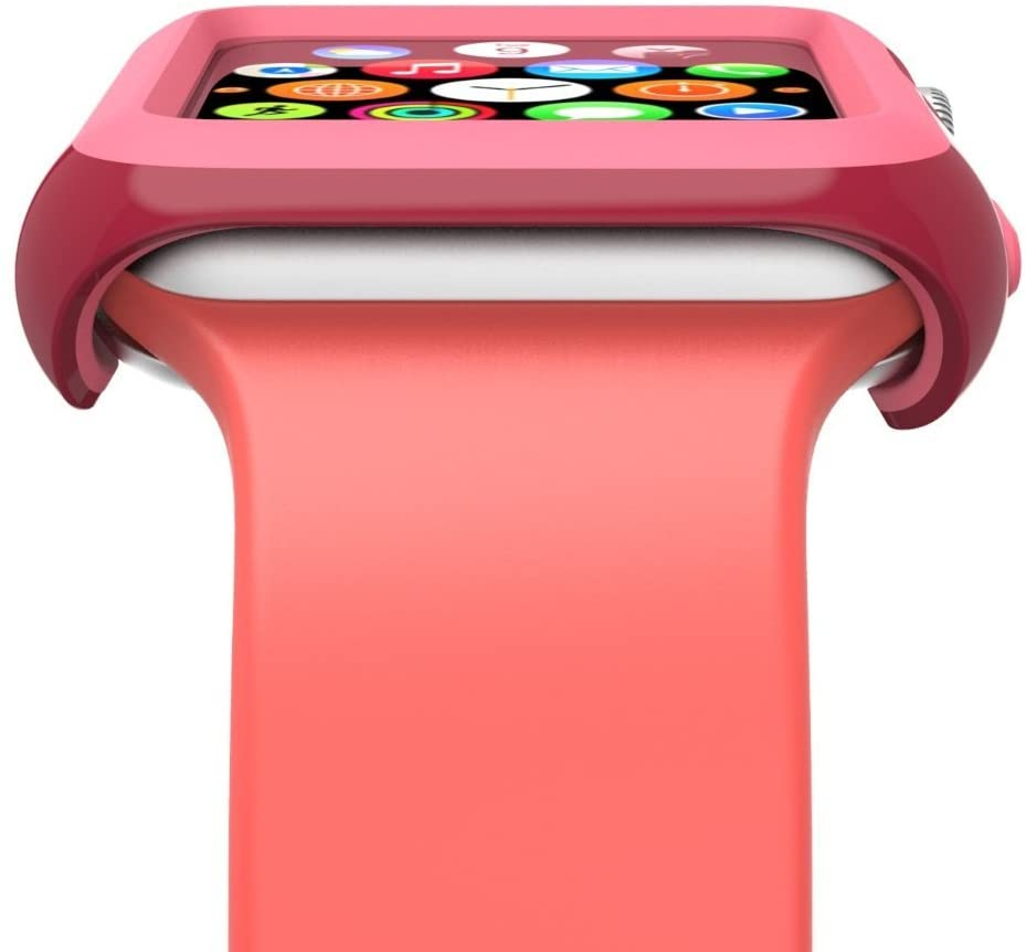 - Protector para Apple Watch 38mm CandyShell Speck red/splash pink 3