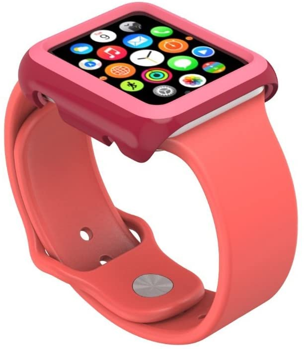 - Protector para Apple Watch 38mm CandyShell Speck red/splash pink 4