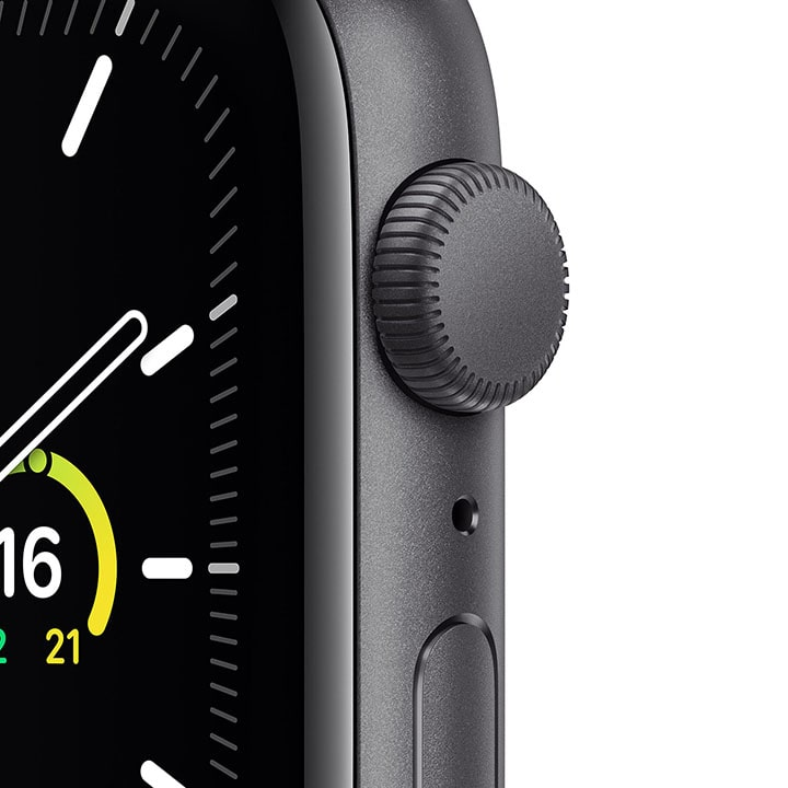 - Apple Watch SE GPS, 44mm Space Gray Aluminium Case with Black Sport Band 2