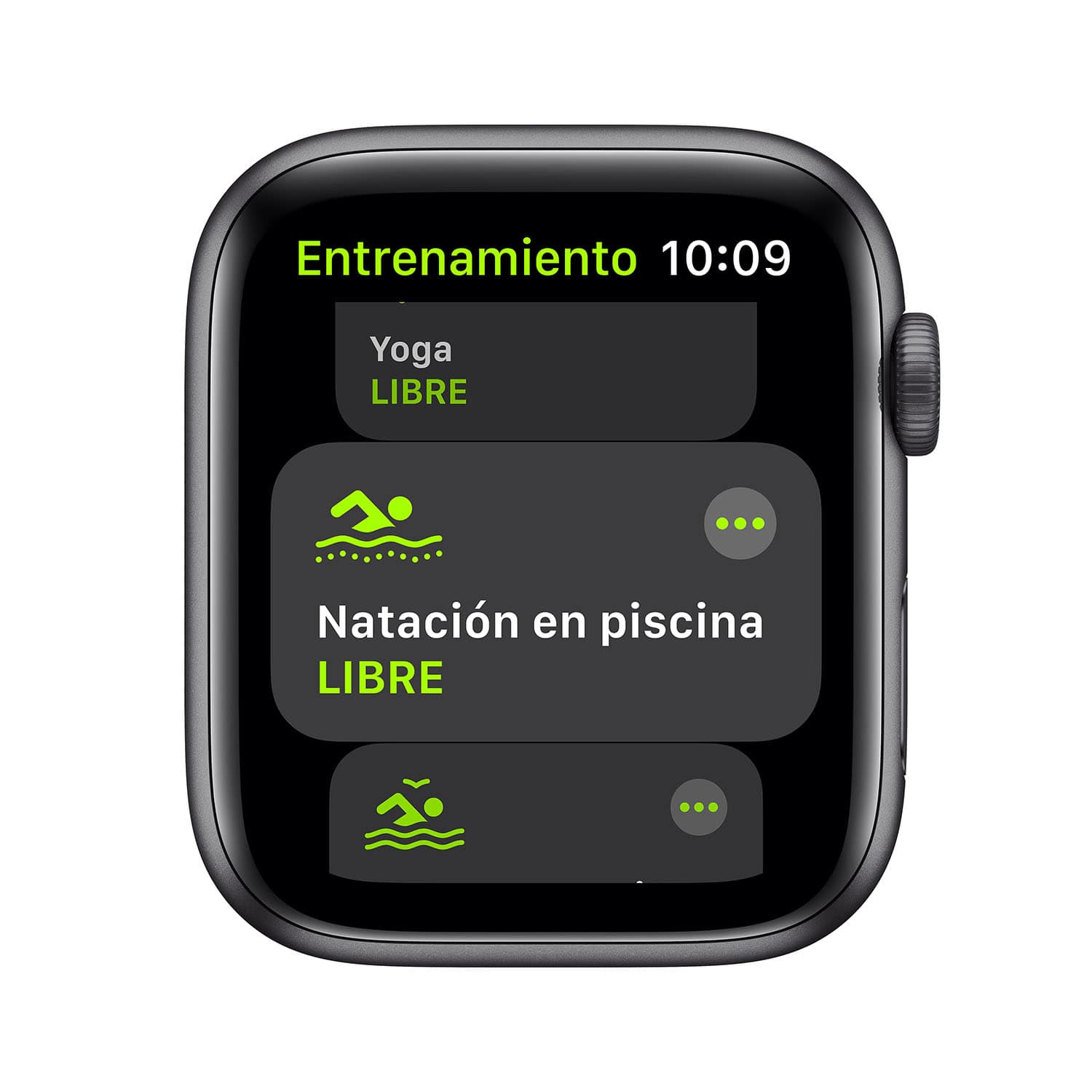 - Apple Watch SE GPS, 44mm Space Gray Aluminium Case with Black Sport Band 6