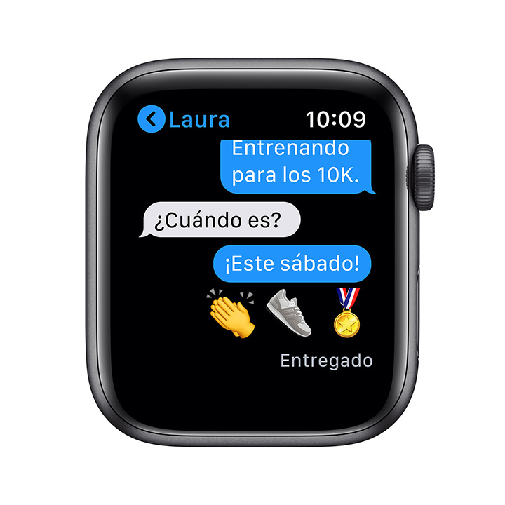 - Apple Watch SE GPS, 44mm Space Gray Aluminium Case with Black Sport Band 3