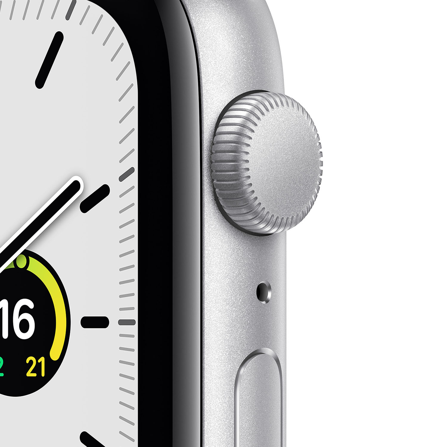 - Apple Watch SE GPS, 44mm Silver Aluminium Case with White Sport Band 2