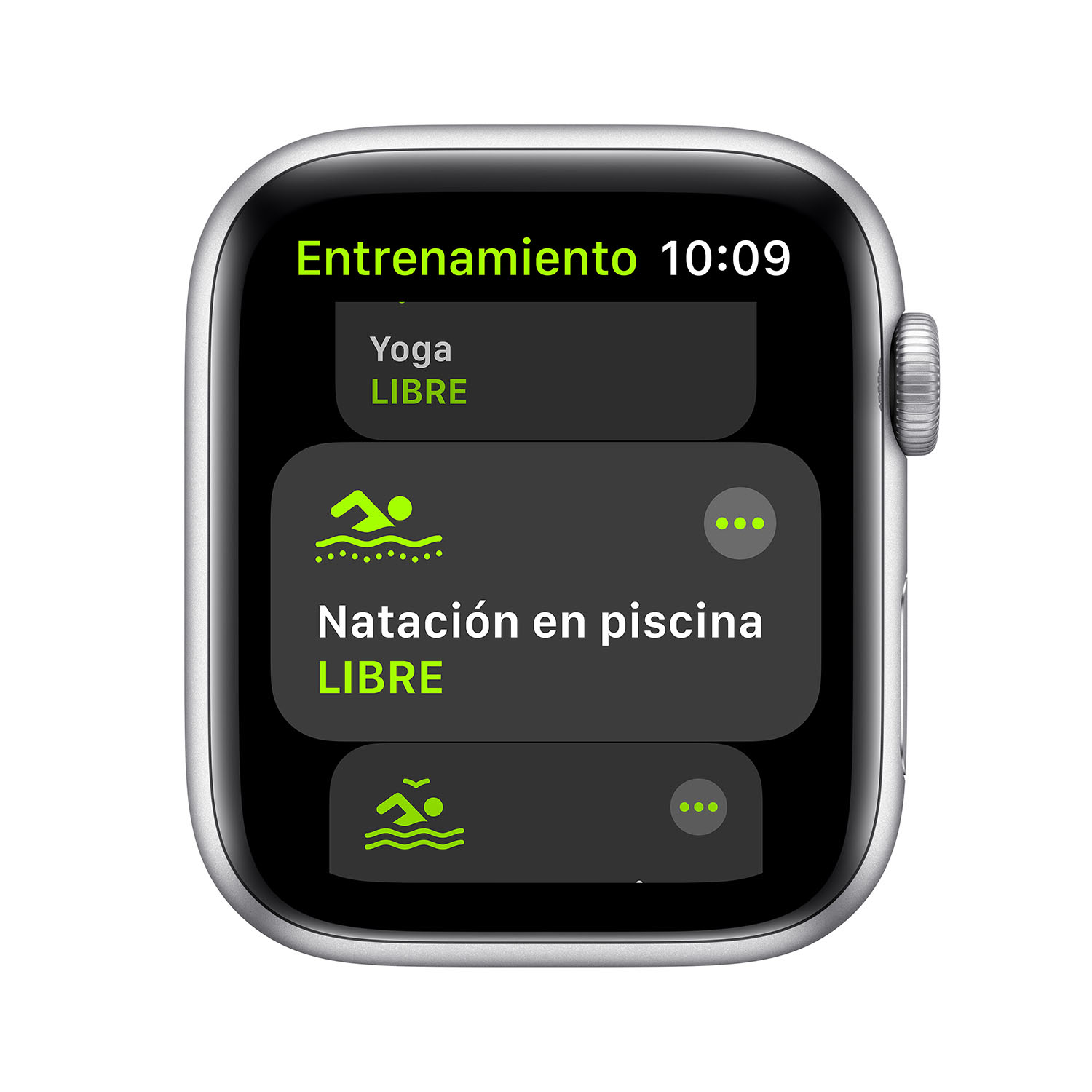 - Apple Watch SE GPS, 44mm Silver Aluminium Case with White Sport Band 3