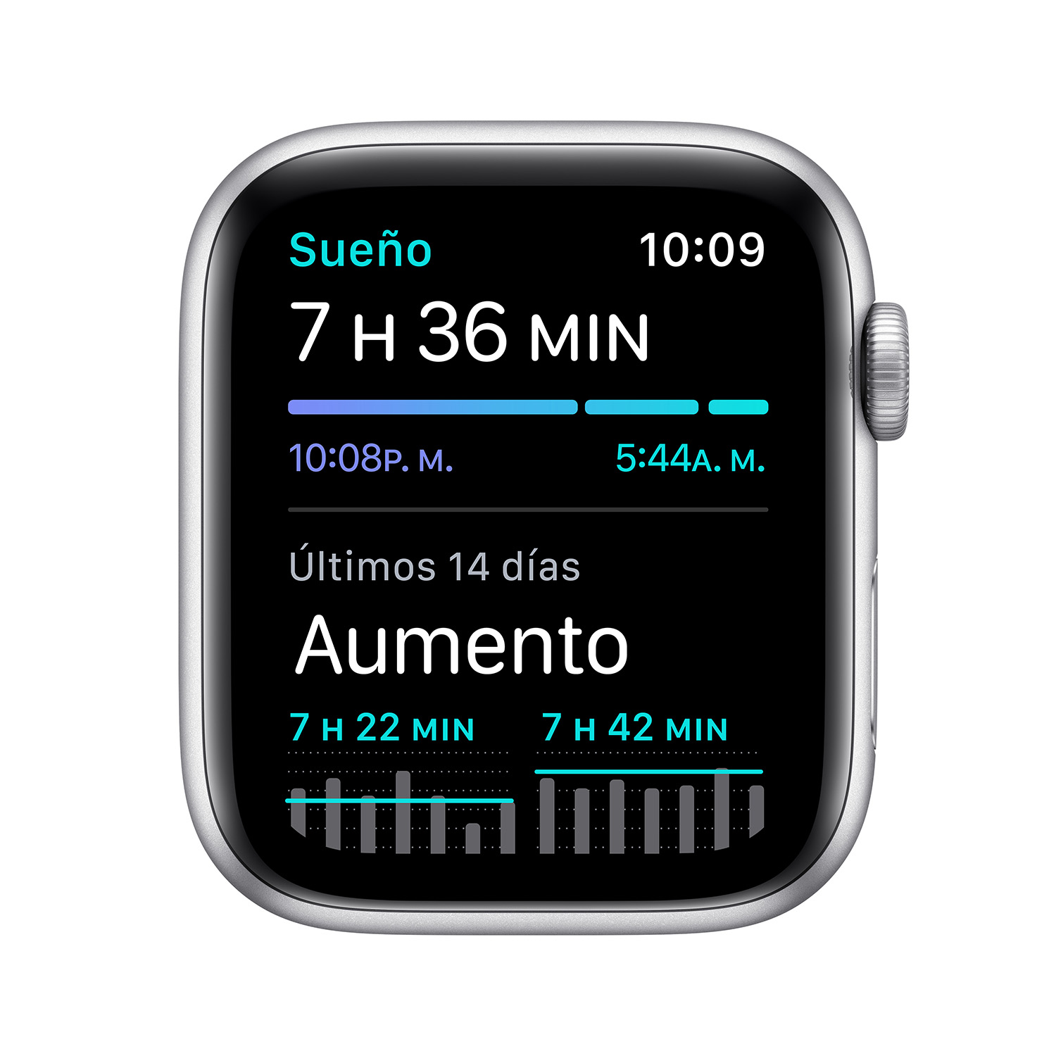 - Apple Watch SE GPS, 44mm Silver Aluminium Case with White Sport Band 5