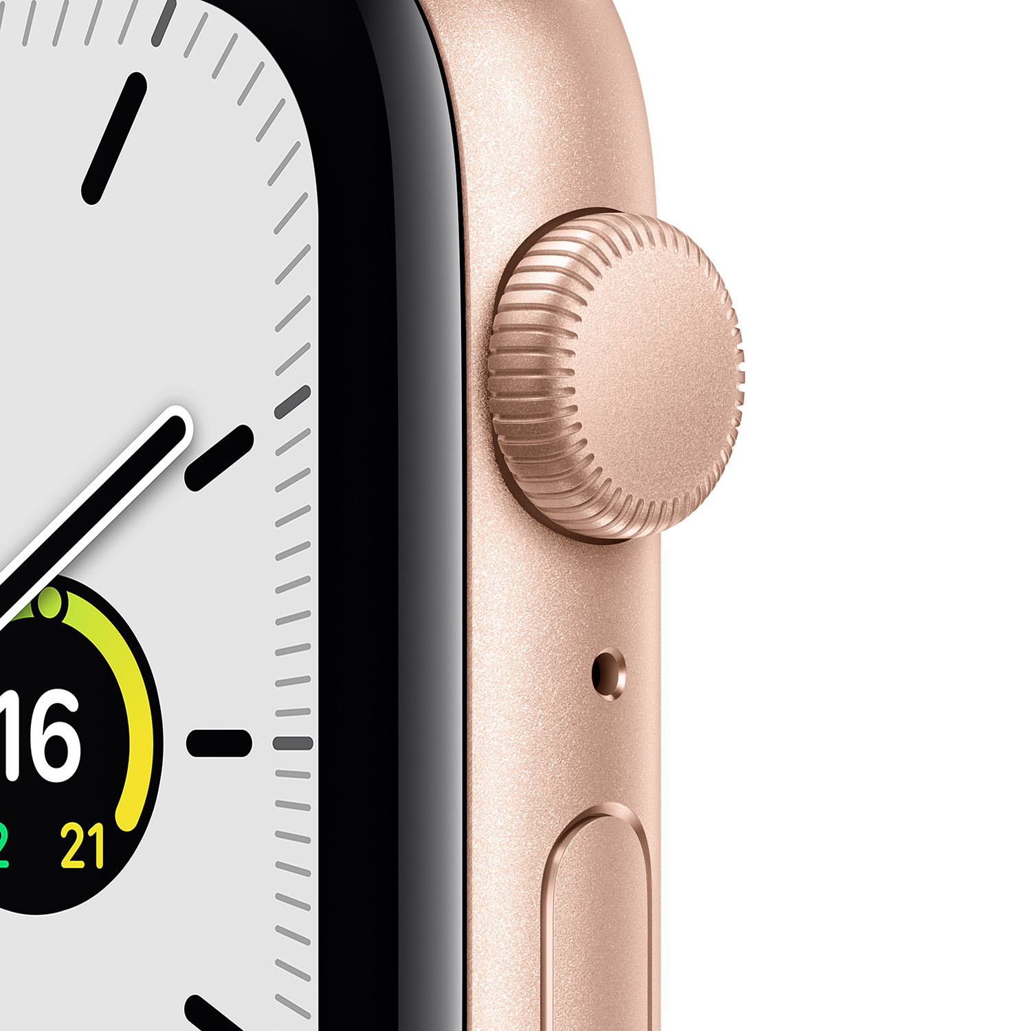 - Apple Watch SE GPS, 44mm Gold Aluminium Case with Pink Sand Sport Band 2