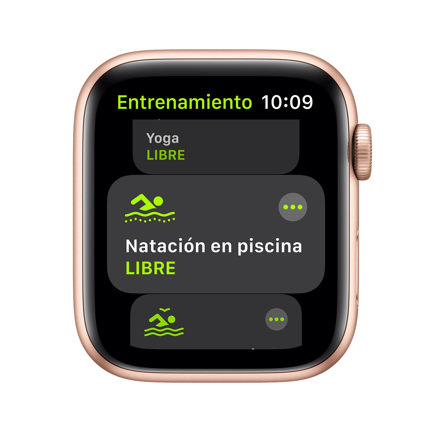 - Apple Watch SE GPS, 44mm Gold Aluminium Case with Pink Sand Sport Band 3
