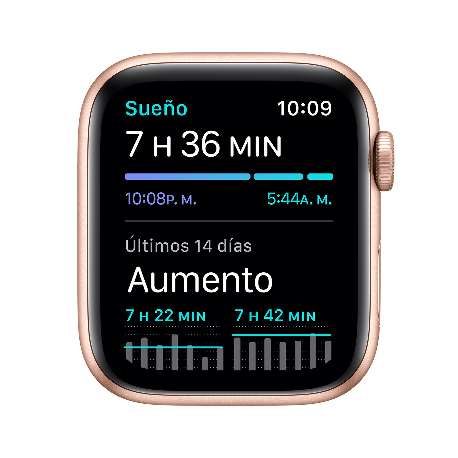 - Apple Watch SE GPS, 44mm Gold Aluminium Case with Pink Sand Sport Band 5