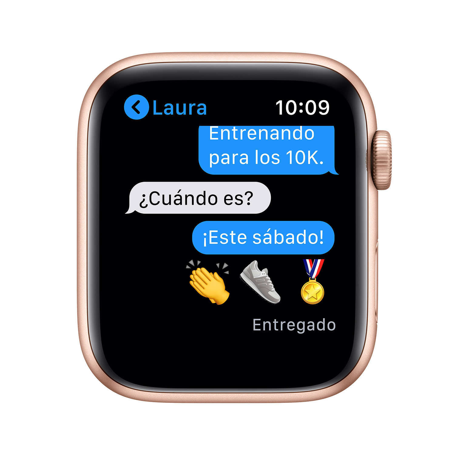 - Apple Watch SE GPS, 44mm Gold Aluminium Case with Pink Sand Sport Band 6