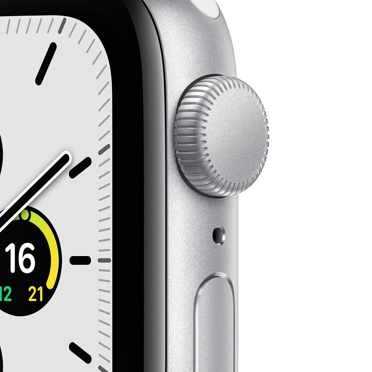 - Apple Watch SE GPS, 40mm Silver Aluminium Case with White Sport Band 2