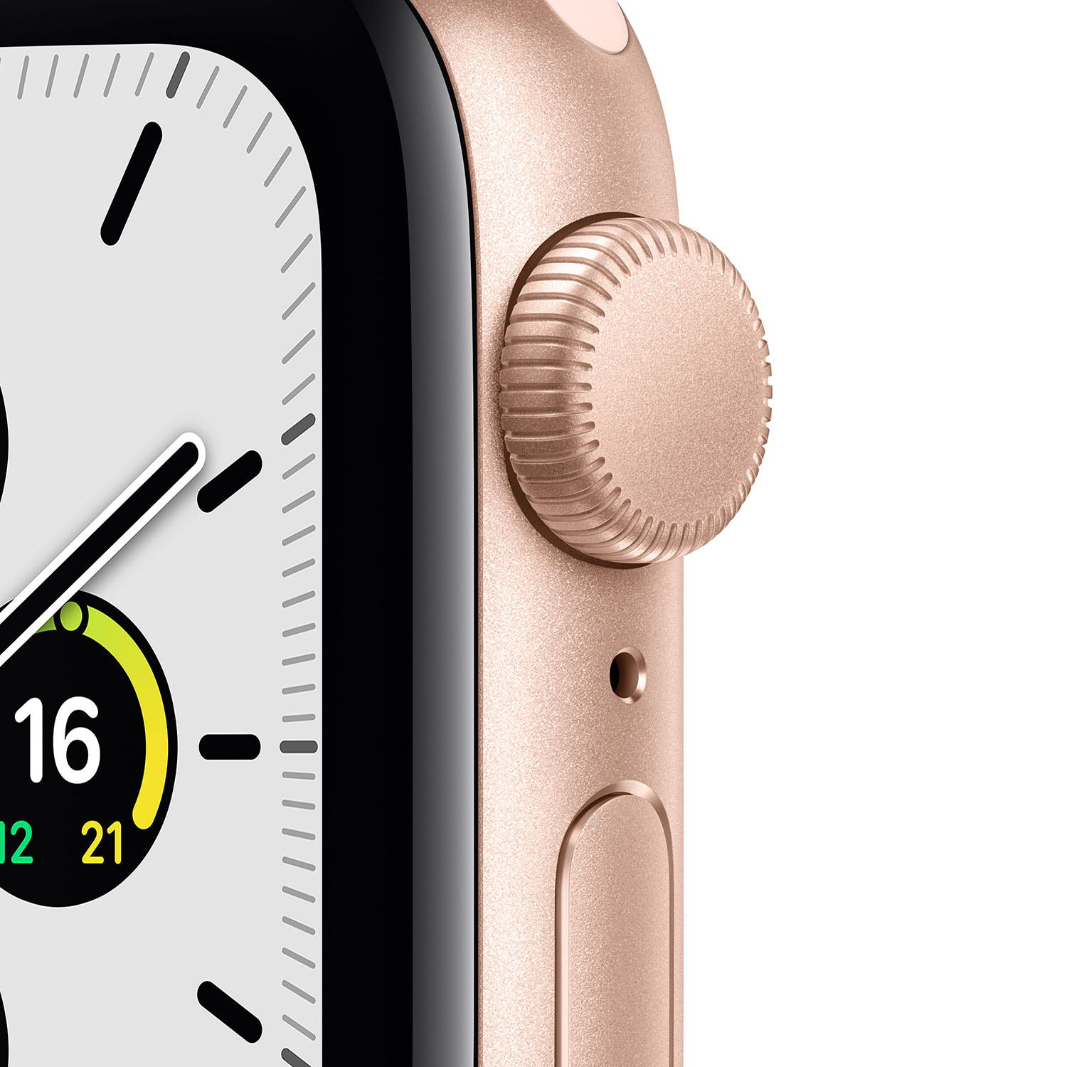 - Apple Watch SE GPS, 40mm Gold Aluminium Case with Pink Sand Sport Band 2