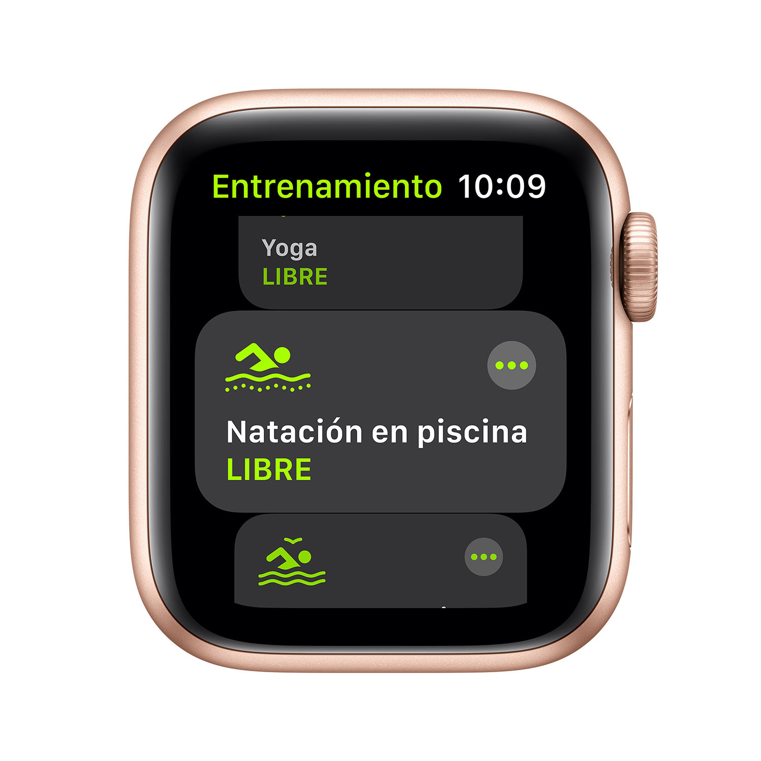 - Apple Watch SE GPS, 40mm Gold Aluminium Case with Pink Sand Sport Band 3