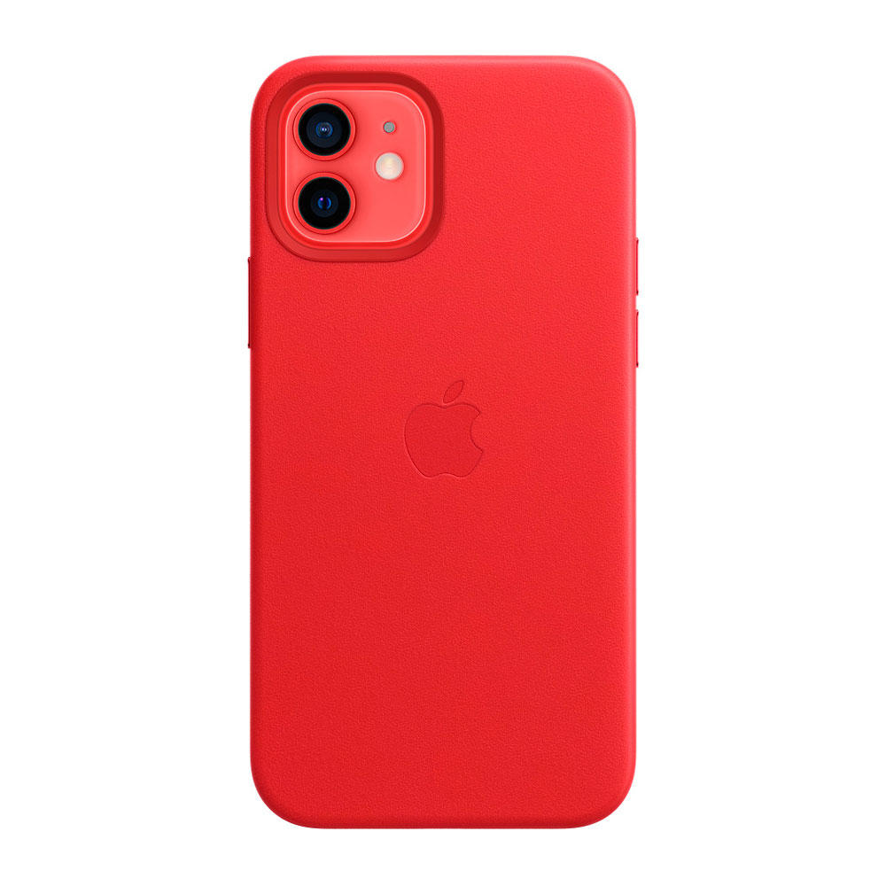 iPhone 12   12 Pro Leather Case with MagSafe / Rojo