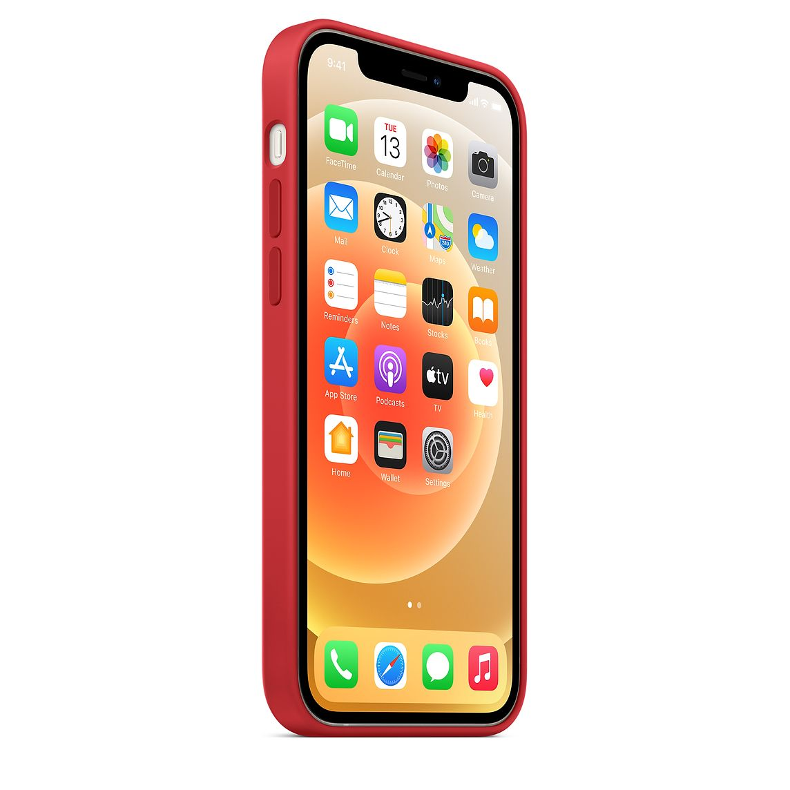 - iPhone 12   12 Pro Silicone Case with MagSafe / Rojo 6