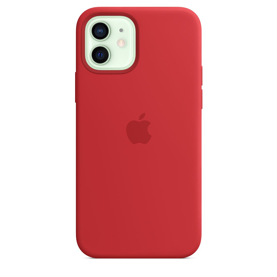 - iPhone 12   12 Pro Silicone Case with MagSafe / Rojo 2