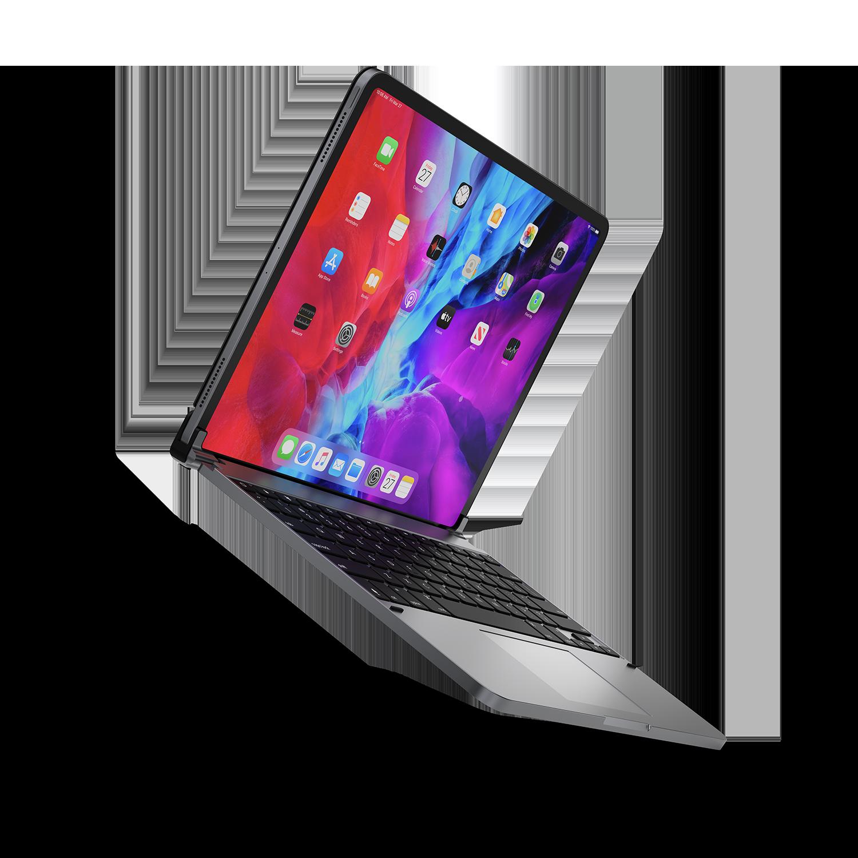 - Teclado aluminio con trackpad para iPad 12.9 3ª y 4ª gen Brydge Space Gray 3