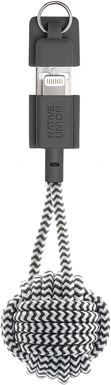 - Cable Lightning con llavero Native Union zebra 1