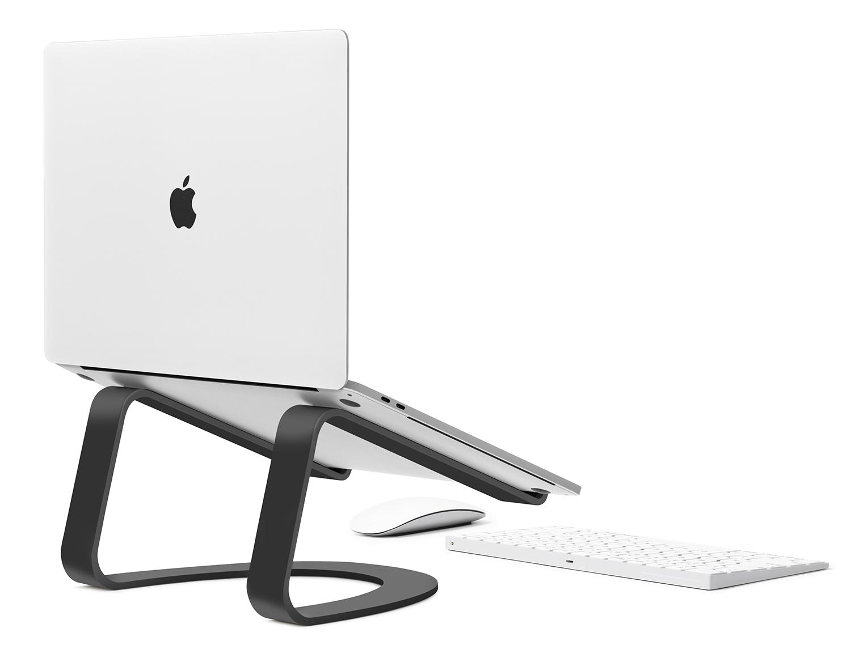 - Soporte fijo curvo para MacBook TwelveSouth negro 2