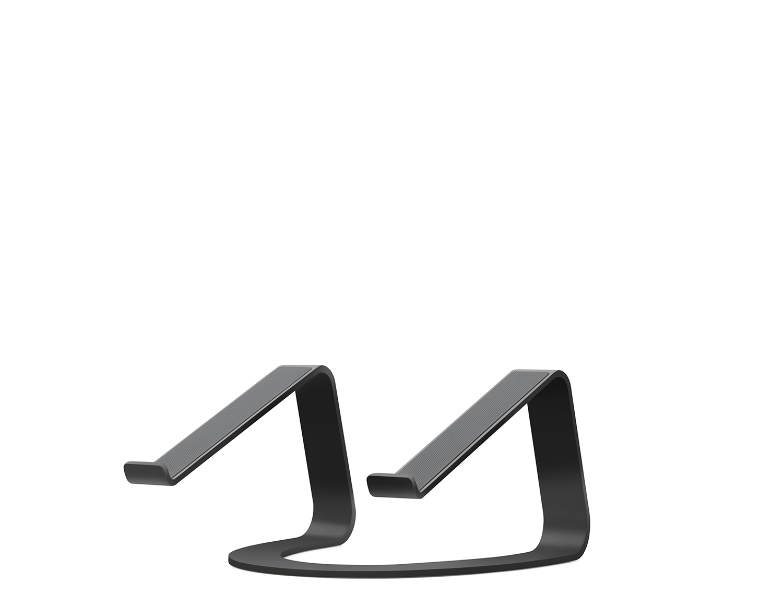 - Soporte fijo curvo para MacBook TwelveSouth negro 3