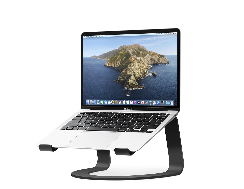 - Soporte fijo curvo para MacBook TwelveSouth negro 1