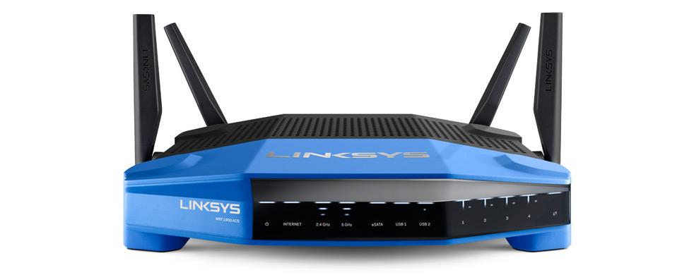 - Router Wi-Fi de doble banda Linksys WRT1900ACS 1