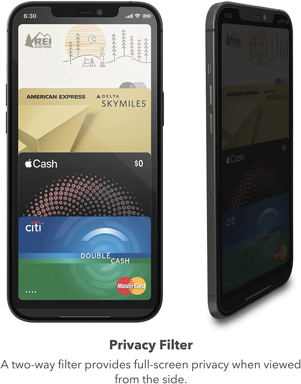 - Lamina Glass Elite privacidad para iPhone 12/12 Pro Zagg 2