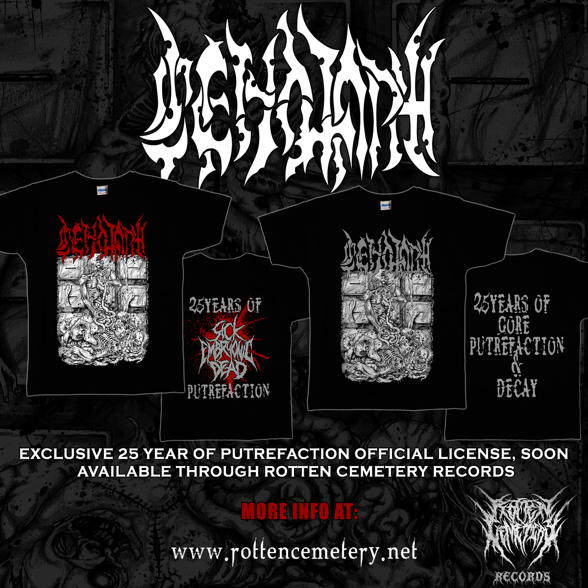 CENOTAPH - 25 Years of Gore & Putrefaction T-shirt