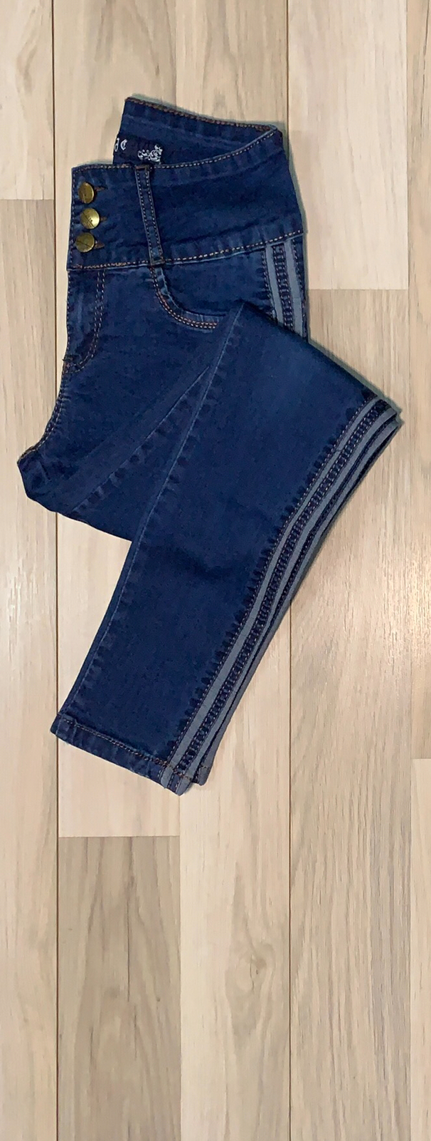 Jeans Azul con franja al costado
