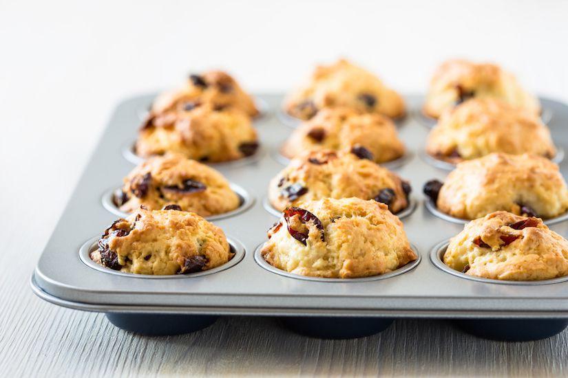 Receta: Muffins de almendra y arándanos