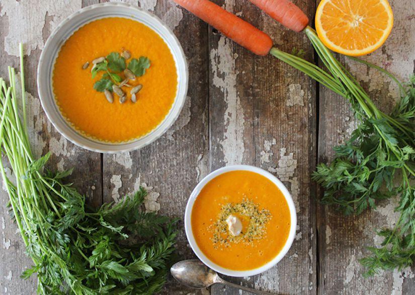 Receta: Sopa de zanahoria, naranja y jengibre
