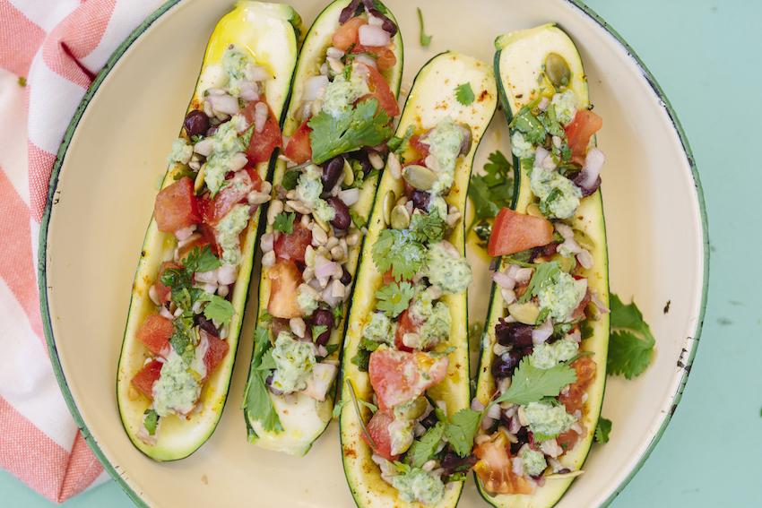 Receta: Zucchinis con Relleno Mexicano