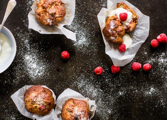 Receta: Muffins de frambuesa sin gluten