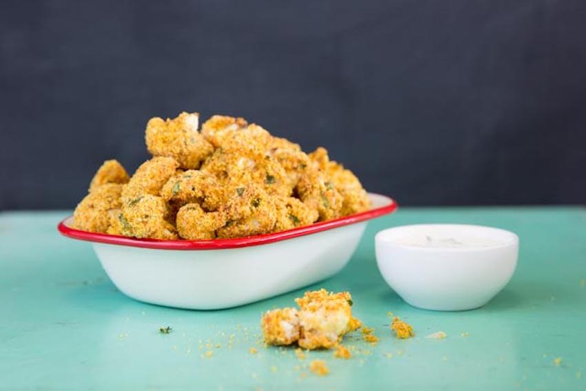 Receta: Nuggets de coliflor crujientes