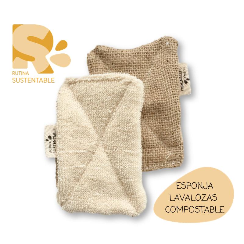 Esponjas de plástico versus esponjas sustentables